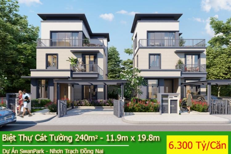Biệt Thự Dự Án Swan Park - Biệt Thự Cát Tường Hướng Đông Nam Giá 6.300 Tỷ/Căn