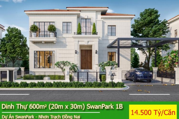 Dinh Thự SwanPark Nhơn Trạch - Giá Bán 14.5 Tỷ/Căn Đã Có VAT - Trước nhà là khu công viên, hồ bơi