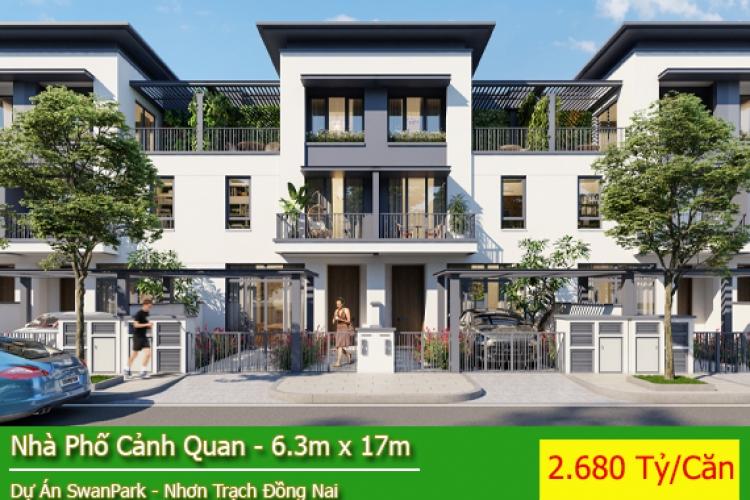 Nhà Phố Dự Án Swan Park - Nhà Phố Cảnh Quan Hướng Tây Bắc Giá 2.680 Tỷ/Căn ( View Thoáng )