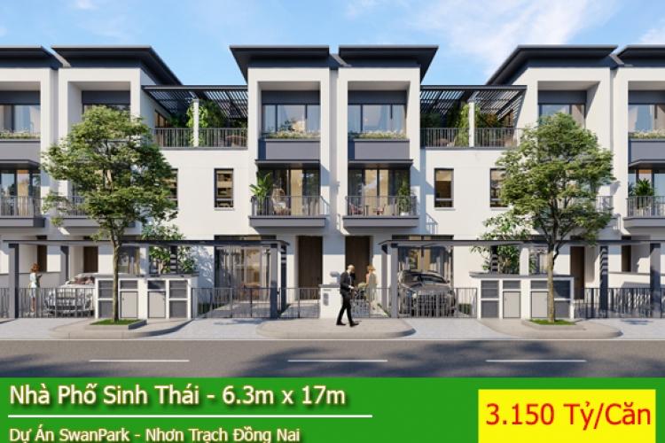 Nhà Phố Dự Án Swan Park - Nhà Phố Sinh Thái Hướng Đông Nam Giá 3.100 Tỷ/Căn ( 2 Mặt Thoáng )