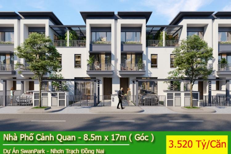 Nhà Phố Dự Án Swan Park - Nhà Phố Sinh Thái Hướng Tây Bắc Giá 3.520 Tỷ/Căn ( Căn Góc )